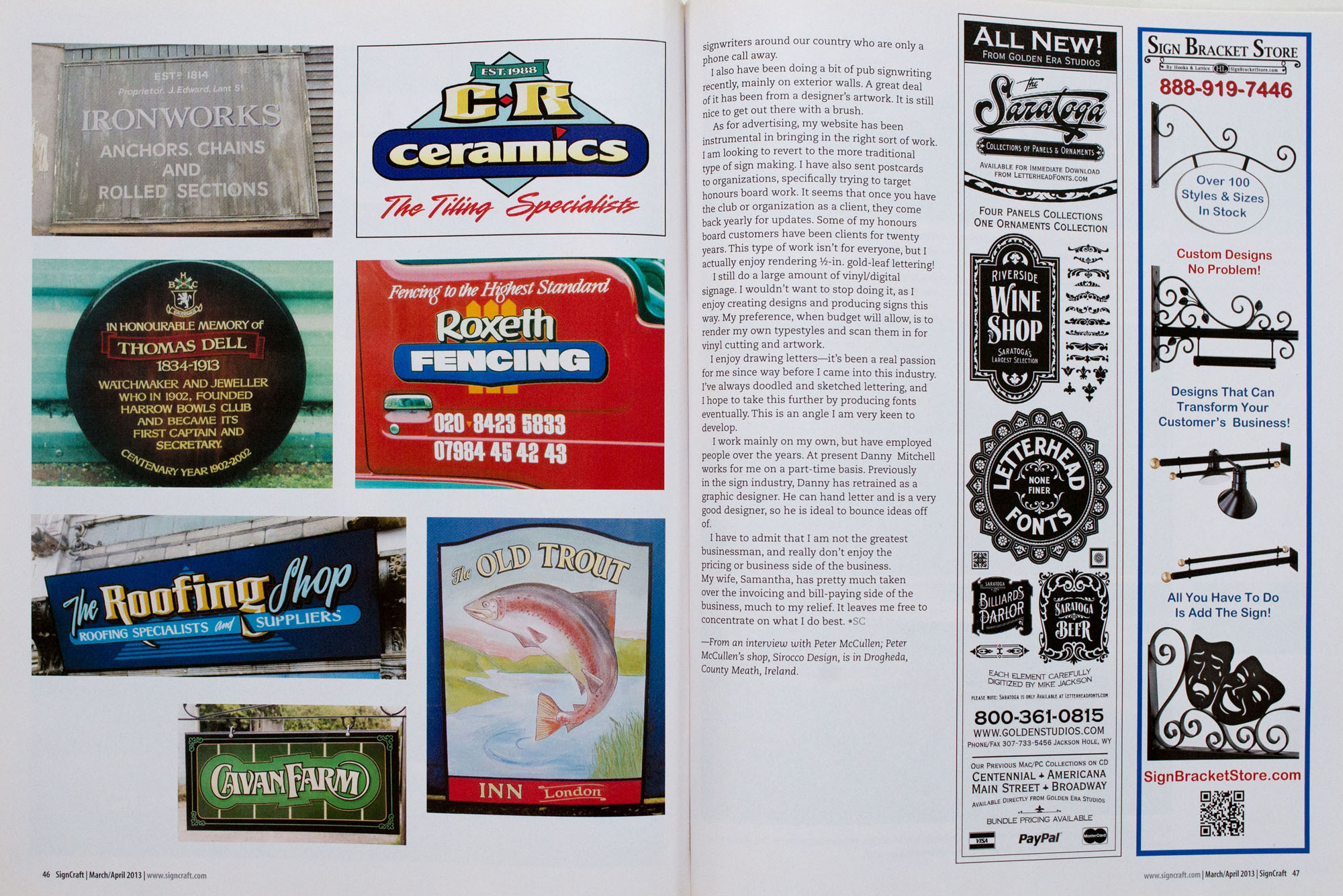 Signcraft magazine article