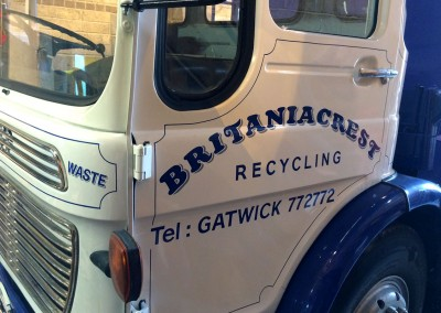 Britaniacrest - signwriting lorries