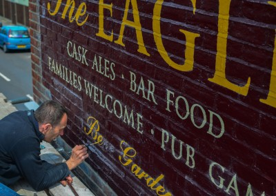 The Eagle - pub exterior sign