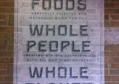 Ghost sign at Wholefoods Market Fulham