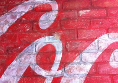 Coca Cola - interior wall signwriting