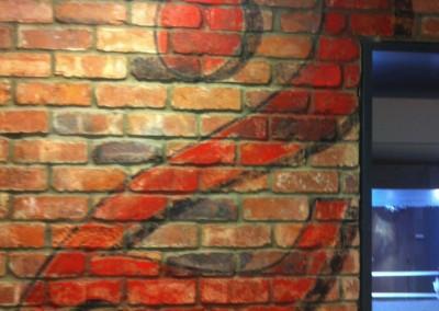 Interior wall signwriting