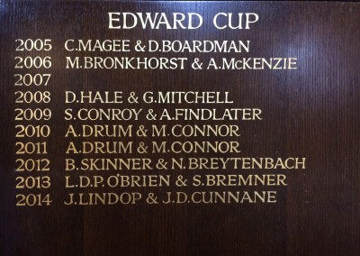 Honours boards in gold leaf at Pinner Hill Golf club