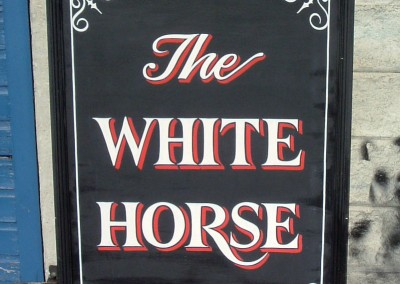 Hand painted pub signs for 'Miss Marple' 2006