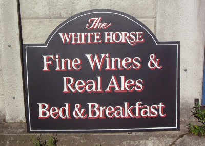 Hand painted pub sign for 'Miss Marple' 2006