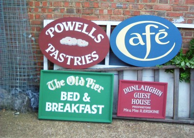 Hand painted signs for film production