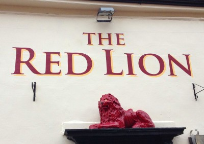 Pub wall signwriting