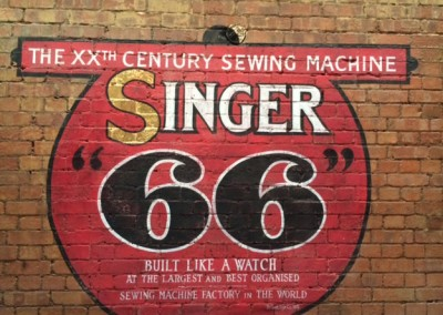 Singer wall signs