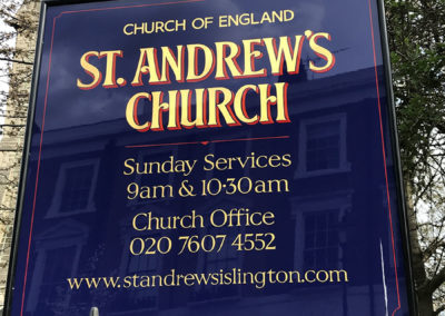 St. Andrew's Church – handpainted church signs