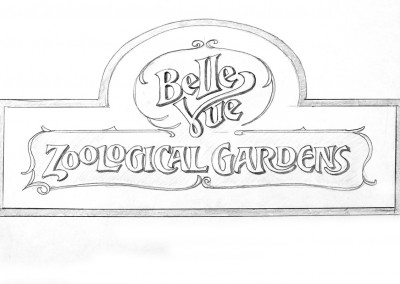 The National Trust sign sketch