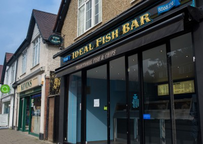 Fish Bar - gold leaf shop sign