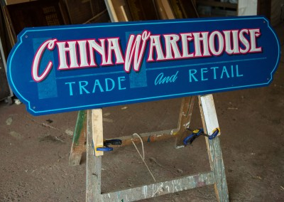 Handpainted China Warehouse sign