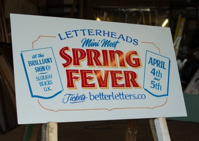 Spring Fever - Letterheads Meet - hand painted sign