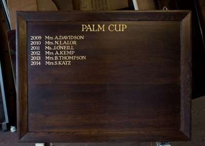 Palm Cup honours boards