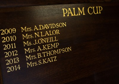 Palm Cup honours board