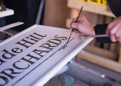 Painting the sign
