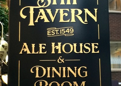 Swing sign for The Ship Tavern pub