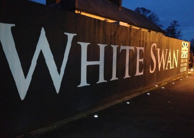 White Swan - exterior signpainting