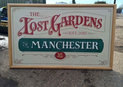 Handpainted signs for The National Trust