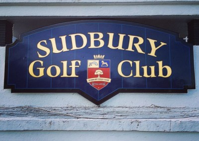 Sudbury Golf Club - gold leaf